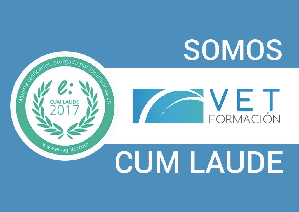 VETFORMACIÓN recibe el Premio Cum Laude 2017
